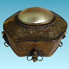 French Grand Tour Trinket Box With Mother of Pearl