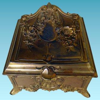 Victorian/Art Nouveau Gilded Large Dresser Box