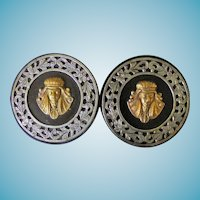 Pair of Egyptian Revival Buckles Circa 1920