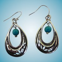 Pretty Sterling & Turquoise Earrings