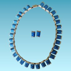 Taxco Mexico Sterling & Turquoise Necklace & Earrings