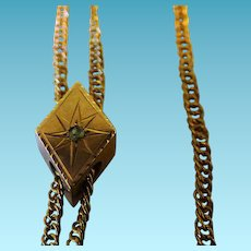 Victorian Ladies Watch Chain With Diamond Shape Slide