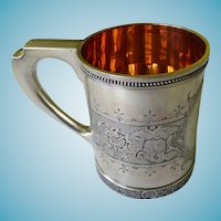TIFFANY Circa 1880's Baby/Youth Cup Sterling Silver