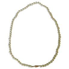 """Cultured Pearl 3mm 14K Clasp Necklace 17"""""""