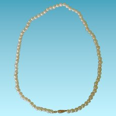 Cultured Pearl 3mm 14K Clasp Necklace 17""