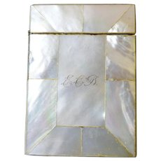 Mother of Pearl Calling Card/Visiting Card Case