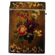 English Victorian Papier Mache Calling/Visiting Card Case
