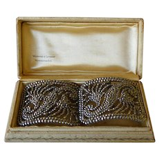 Art Deco French Shoe Buckles Signed FRANCE