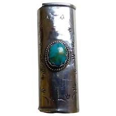 N. American Lighter Cover Sterling & Turquoise