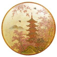 Meiji Japanese Satsuma Plate Signed