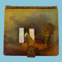 Rare Paper Mache 6th Plate Photo Case With MOP From Paul Berg Estate, With Daguerreotype