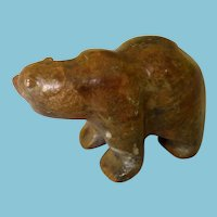 Sweet Little Hand Carved Inuit Bear Signed