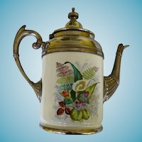 Antique Granite Ware/Enamelware Coffee Pot