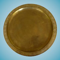 Tiffany Studios Gilt Bronze Large Charger