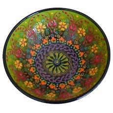 Vintage Hand Made Enamel Bowl
