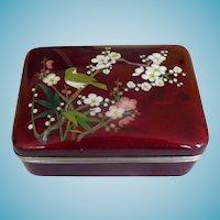 Vintage Japanese Cloisonne Ginbari Box