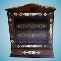 Antique Anglo Indian Cabinet Jewelry Box Circa 1880