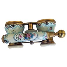 Antique French Enamel Opera Glasses