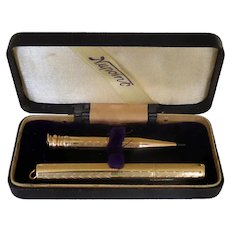Boxed GF Pen & Pencil 14K Nib Chaterlaine Ready