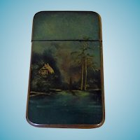 Vintage Papier Mache Calling/Visiting Card Case