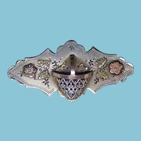 Victorian Sterling & Gold Brooch Late 19th Century