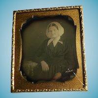 Daguerreotype of Woman Cased 1/6 Plate