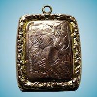 English Victorian Rose Gold Front & Back Locket/Fob