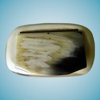 Adorable Antique Horn Snuff Box