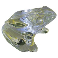 Baccarat Crystal Frog Paperweight