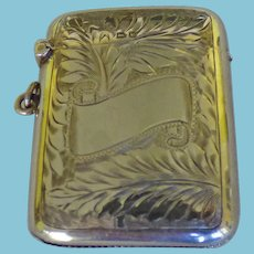 English Sterling Match Safe/Vesta