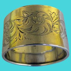 Gorham Sterling Napkin Ring 1891