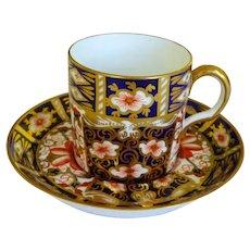 Royal Crown Derby Demitasse Cup & Saucer Imari Pattern