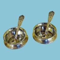 Pair Sterling Salts & Spoons