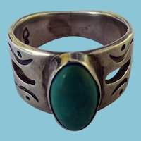 Southwestern Style Sterling & Turquoise Ring