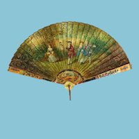 Antique French Child's or Doll Fan