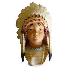 """Cybis Porcelain """"Little Eagle""""  Indian Boy"""
