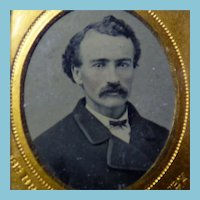 Tintype of John Wilkes Booth? or lookalike,  1/16th Plate In Union Case