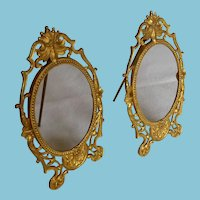 Pair Gilt Bronze Victorian Standing Picture Frames