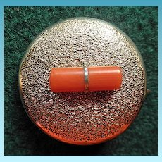 Antique Victorian 10K Pendant/Brooch With Coral