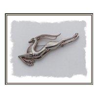Art Deco Leaping Gazelle Figural Brooch Pin
