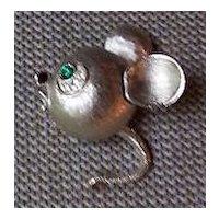 Mandle Rhinestone Figural Mouse Pin