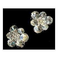 Exquisite Weiss Crystal Clear Rhinestone Earrings
