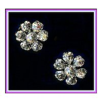Sparkling Clear Heart Shaped Rhinestone Earrings