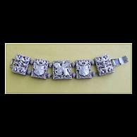 Vintage Tortolani Middle Ages Five Panel Slider Bracelet