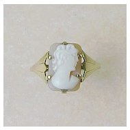 Victorian Cameo Ring 9K Gold