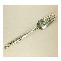 Vintage Sovereign Hispana Gorham Sterling Cold Meat Silver Serving Fork (1968)