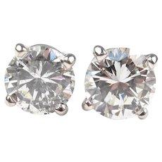 Diamond 1.23 ctw Round Brilliant Stud Earrings