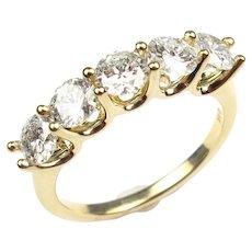 Diamond 1.58 ctw Anniversary Band Ring 14k Yellow Gold