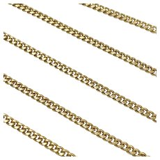"""Curb Link Chain Necklace 18K Gold, 24"""" Length 15.3 Grams"""