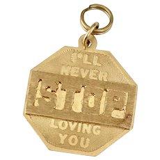 Romantic Vintage Charm, I'll Never STOP Loving You 14K Gold